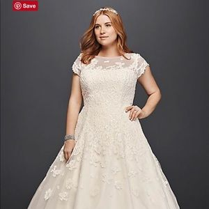 Plus Size Tea Length Wedding Dress NWT